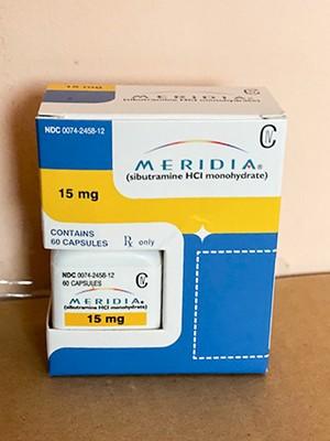 Meridia brand (Reductil,Sibutramine) 15 mg - packing 60 pills  R