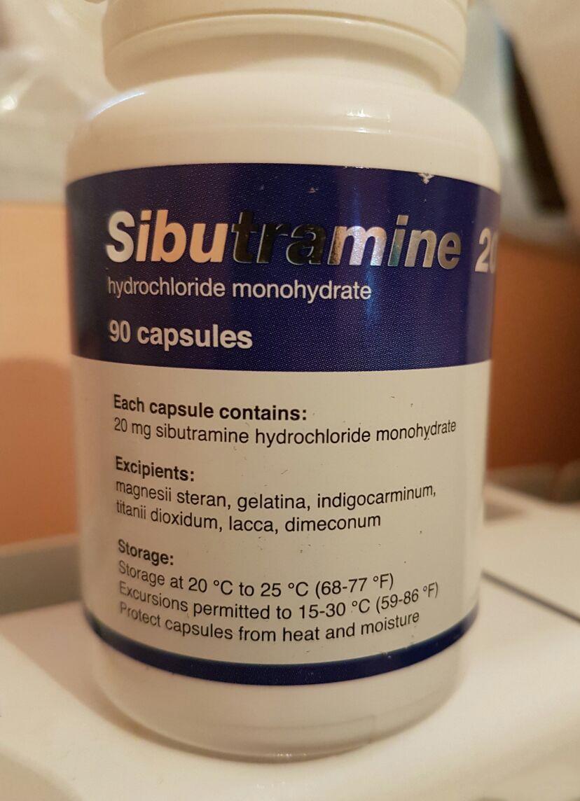 Générique Reductil (Meridia, Ectivia) 20 mg - packing 30 pilules